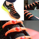 Silicone Lazy Laces - Assorted Colors Women's Apparel Orange - DailySale