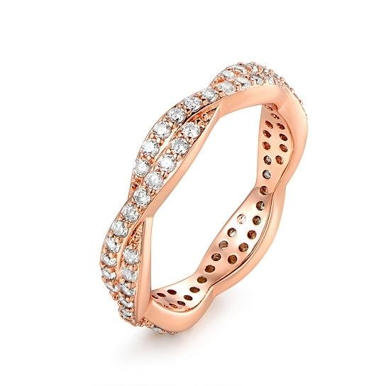 Silvertwist Ring - Assorted Colors and Sizes Jewelry 9 Rose Gold - DailySale