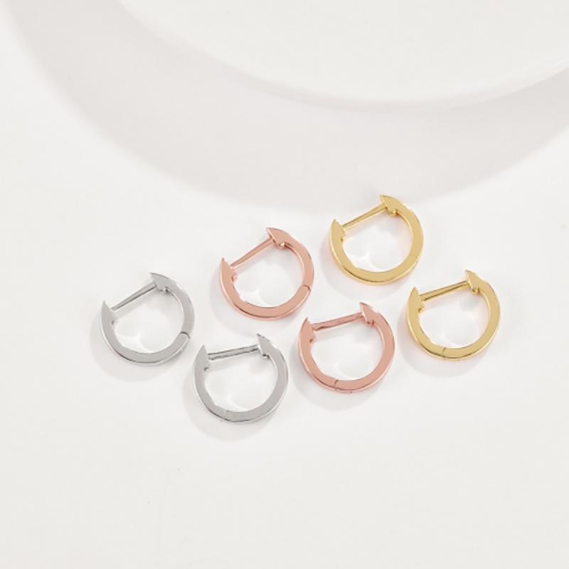 Sleek Minimalist Mini Huggie Earrings - Assorted Colors Jewelry - DailySale