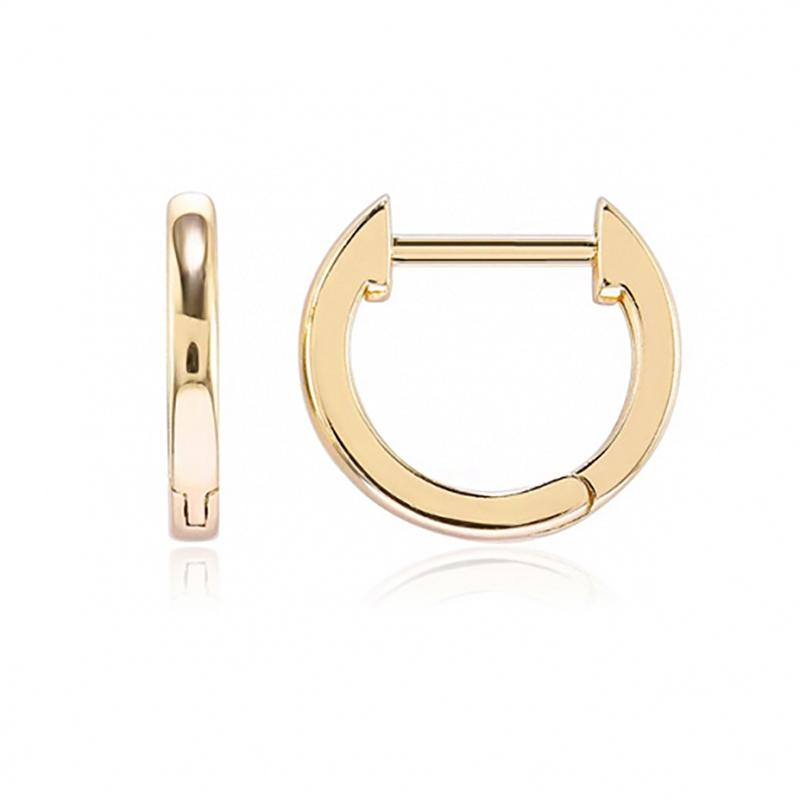 Sleek Minimalist Mini Huggie Earrings - Assorted Colors Jewelry Gold - DailySale