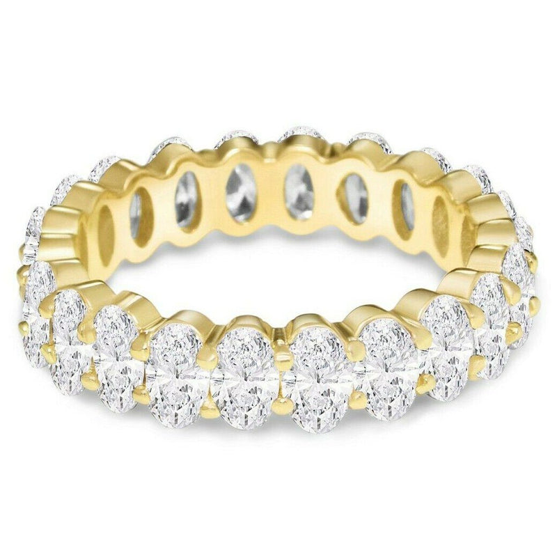 Small Oval Eternity Ring Rings 5 Gold - DailySale