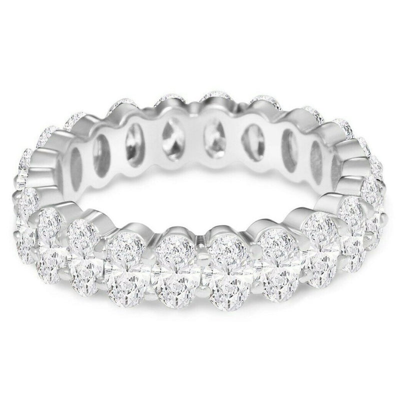 Small Oval Eternity Ring Rings 5 Silver - DailySale