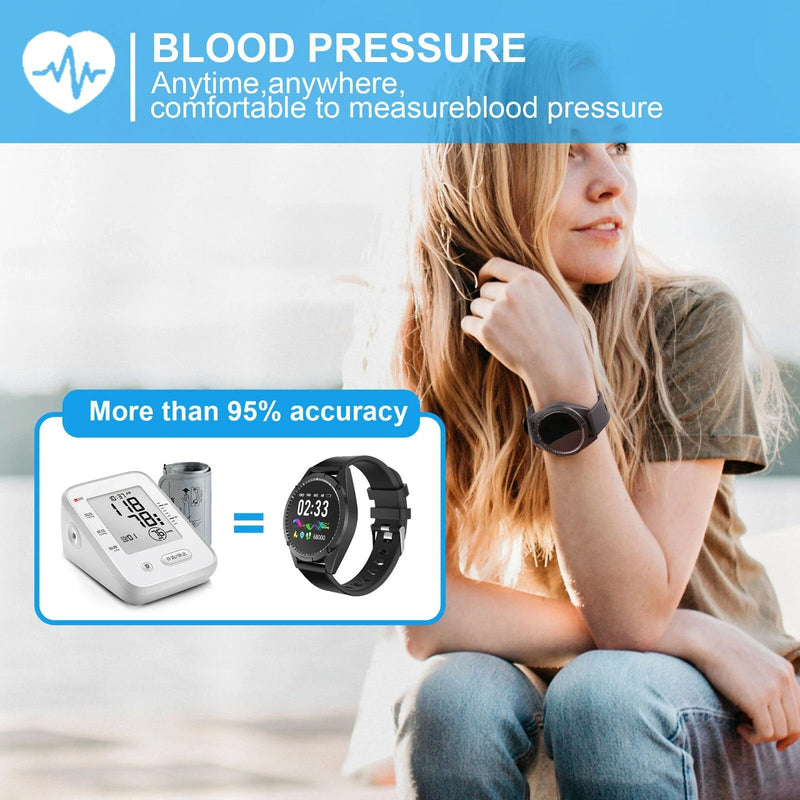 Smart Sport Watch Activity Tracker with Blood Pressure Heart Rate Sleep Monitor Smart Watches - DailySale