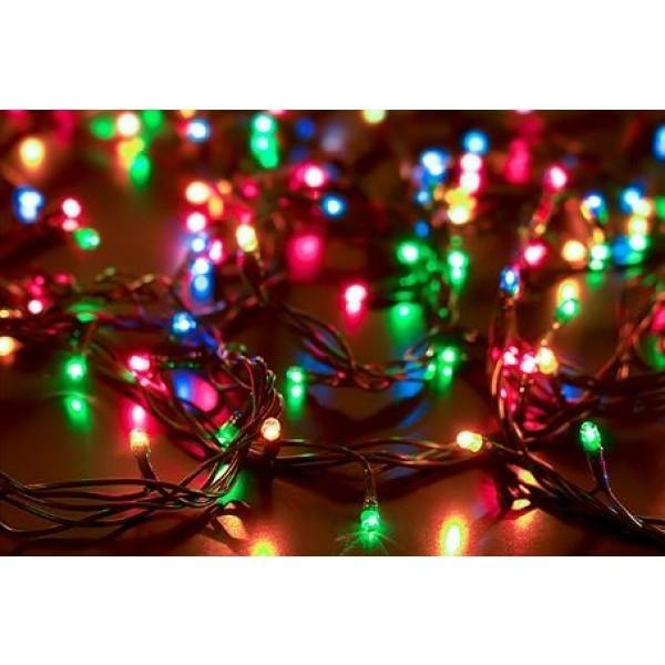 Solar-Powered 100 LED Fairy Light String - Assorted Colors Home Lighting Multi Colored - DailySale