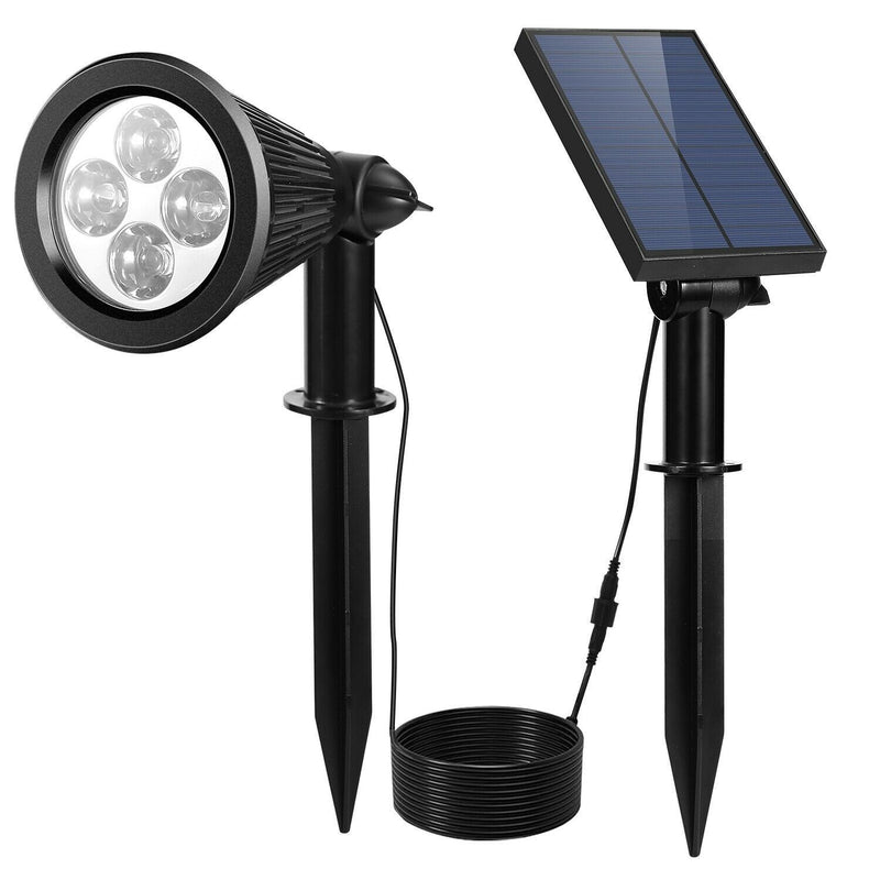 Solar Powered Spotlight Outdoor Garden Lamp Waterproof Garden & Patio - DailySale