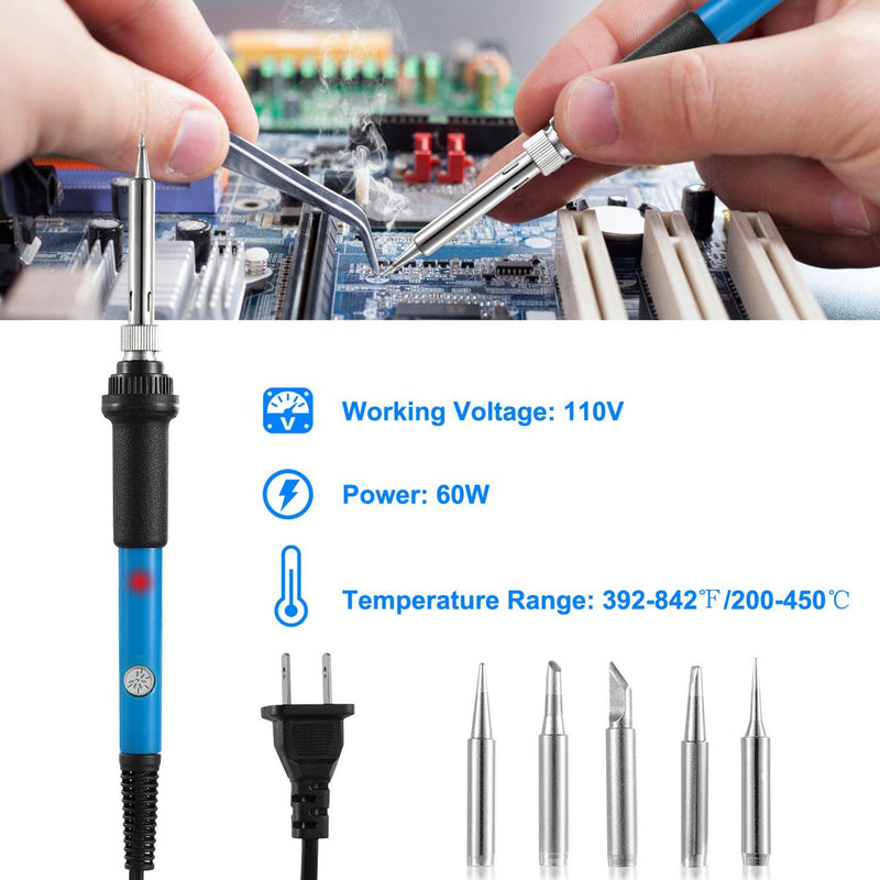 Soldering Iron 110V/60W Adjustable Temperature Home Improvement - DailySale