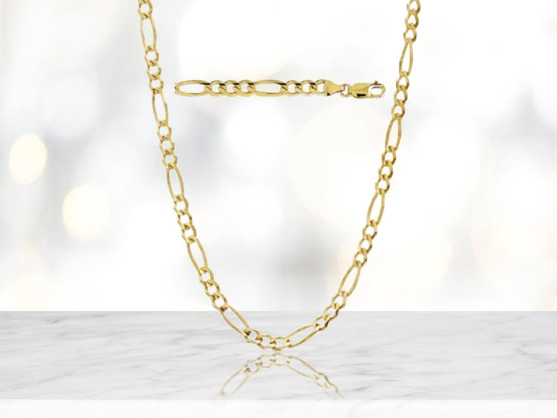 "Solid 14K Gold Figaro Chain - Assorted Sizes Jewelry 16"" - DailySale"