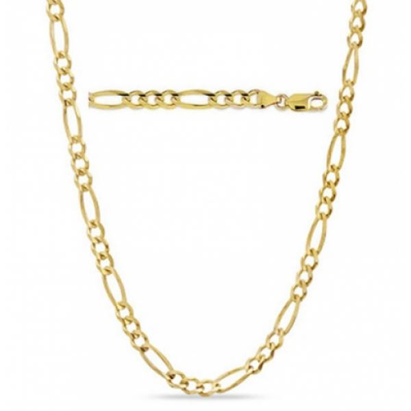 Solid 14K Gold Figaro Chain - Assorted Sizes Jewelry - DailySale