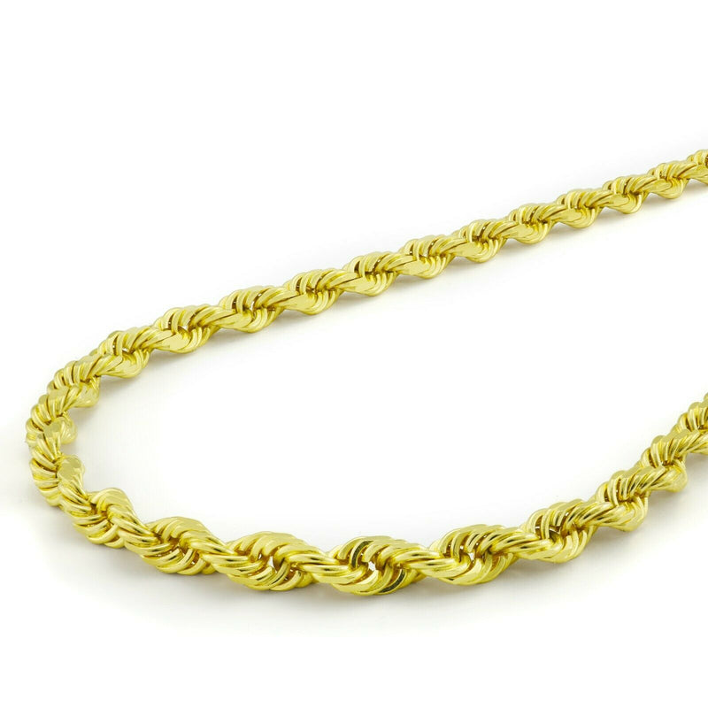 "Solid 925 Sterling Silver 14K Gold Vermeil Italian Rope Chain Jewelry 18"" - DailySale"