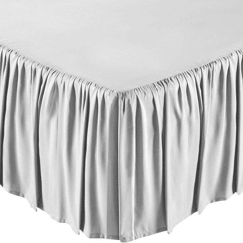 Solid Color Bed Skirt - Assorted Styles Linen & Bedding Full White Ruffle - DailySale