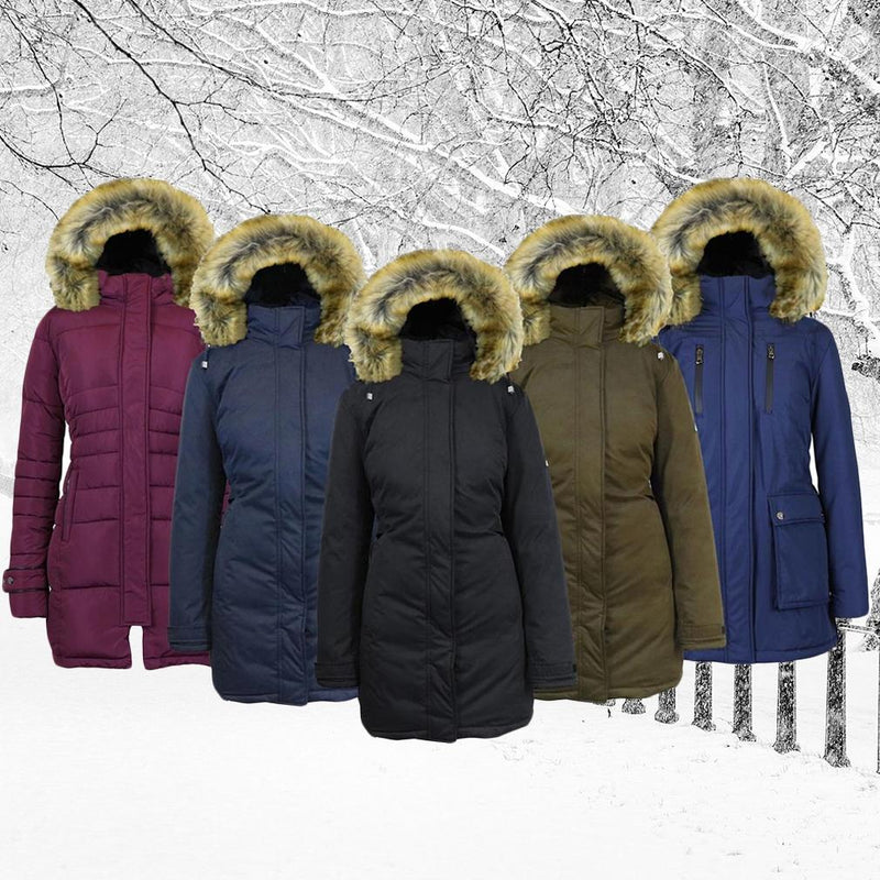 Spire By Galaxy Heavyweight Women's Parka with Hood Women's Apparel - DailySale