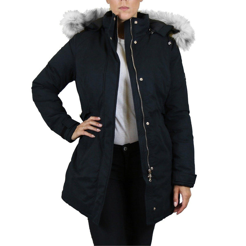 Spire By Galaxy Heavyweight Women's Parka with Hood Women's Apparel S Black Classic - DailySale