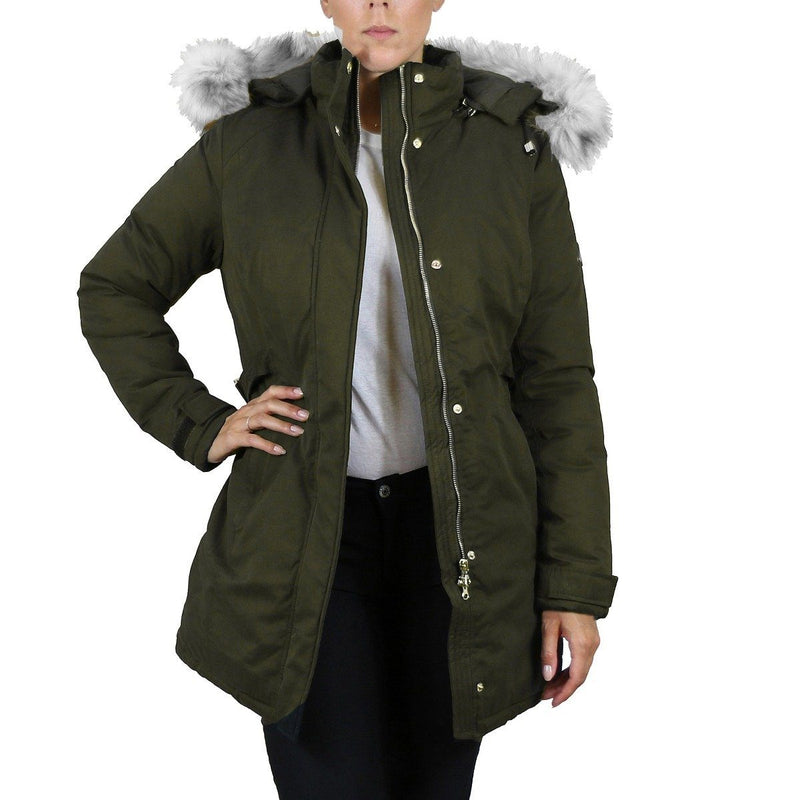 Spire By Galaxy Heavyweight Women's Parka with Hood Women's Apparel S Olive Classic - DailySale