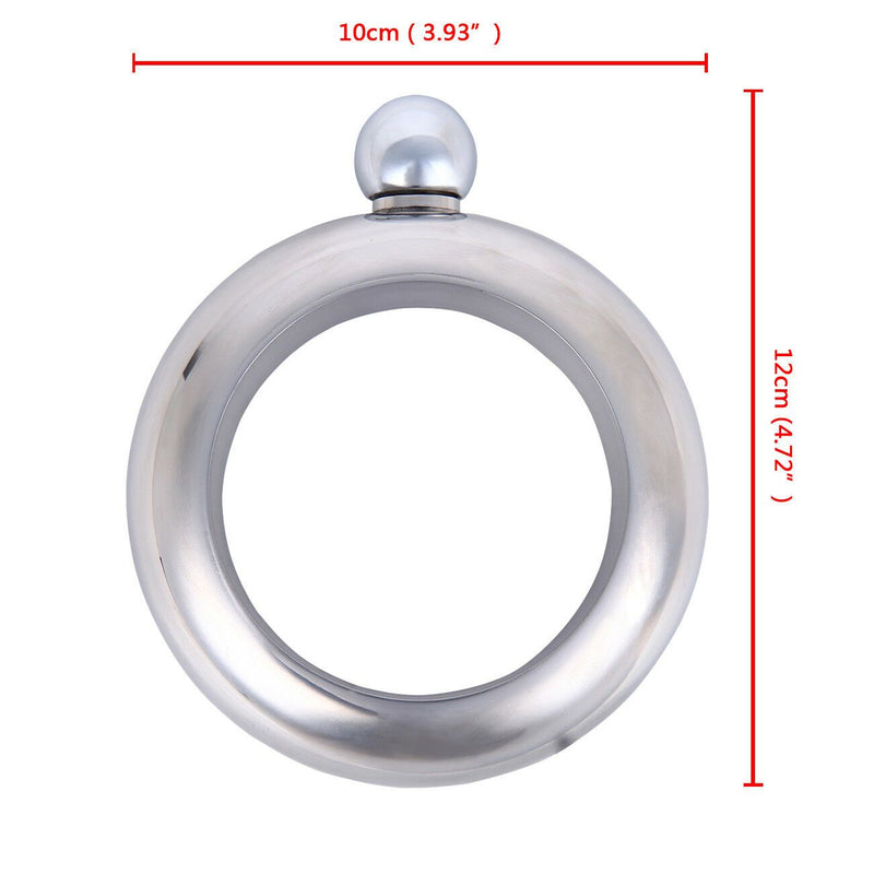 Stainless Steel Unisex Hidden Flask Bangle Jewelry - DailySale