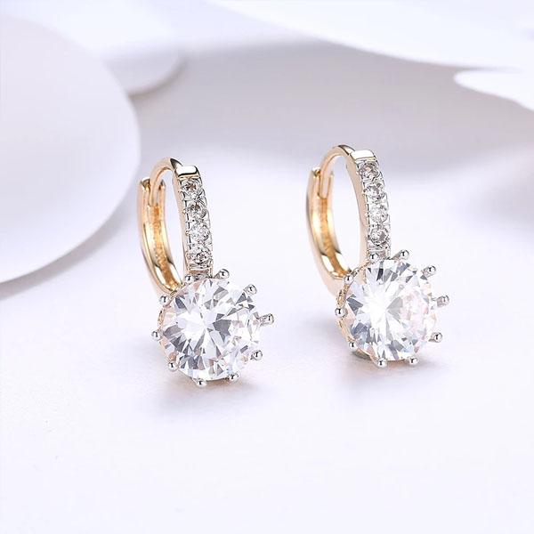 Starburst Swarovski Elements Pav'e Leverback Earrings Jewelry - DailySale
