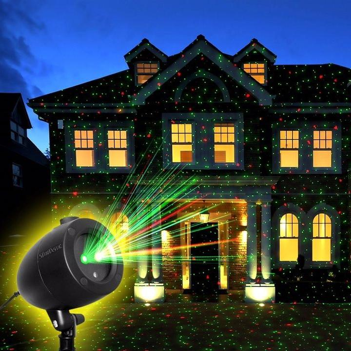 Startastic Holiday Laser Light Show, Static and Motion Features Home Lighting - DailySale