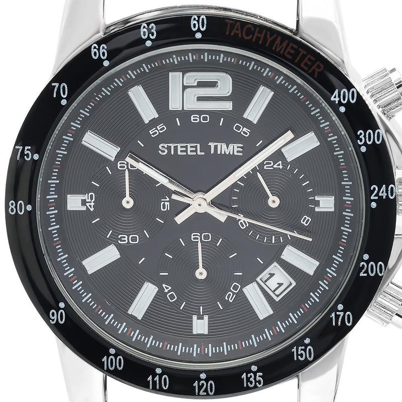 SteelTime Men's Stainless Steel Watches Men's Accessories - DailySale