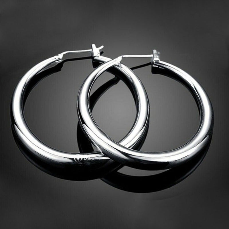 Sterling Silver Hoop Earrings Jewelry - DailySale