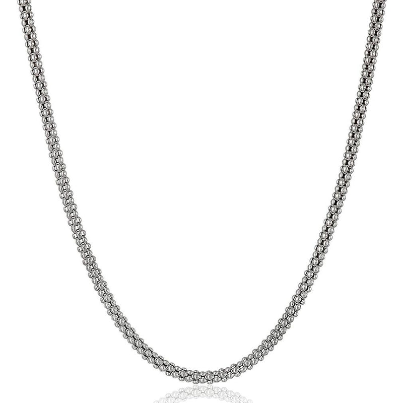 "Sterling Silver Italian Popcorn Chain Necklace Jewelry 24"" - DailySale"