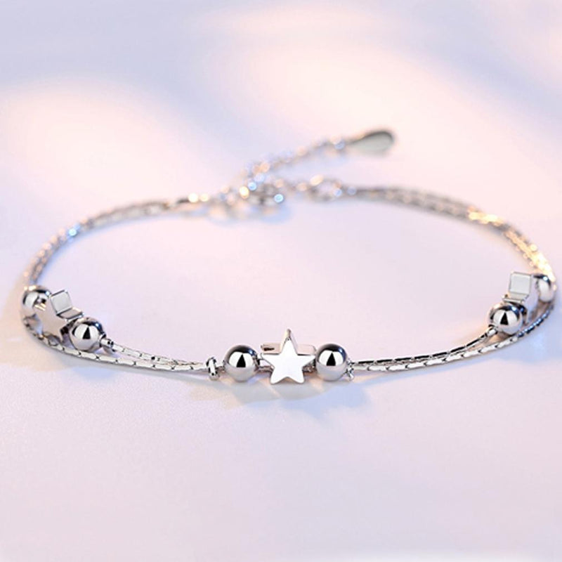 Sterling Silver Star Charm Bracelet Jewelry - DailySale