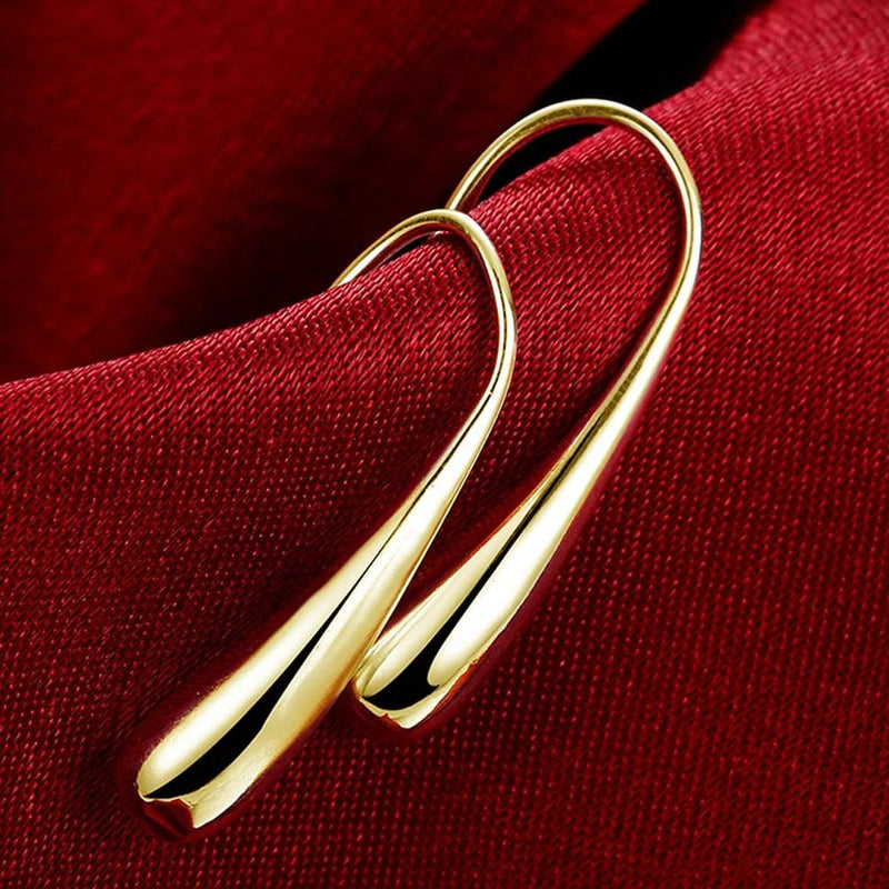 Sterling Silver Waterdrop Hook Earrings Jewelry Gold - DailySale
