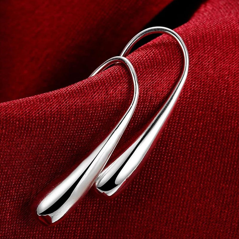 Sterling Silver Waterdrop Hook Earrings Jewelry Silver - DailySale