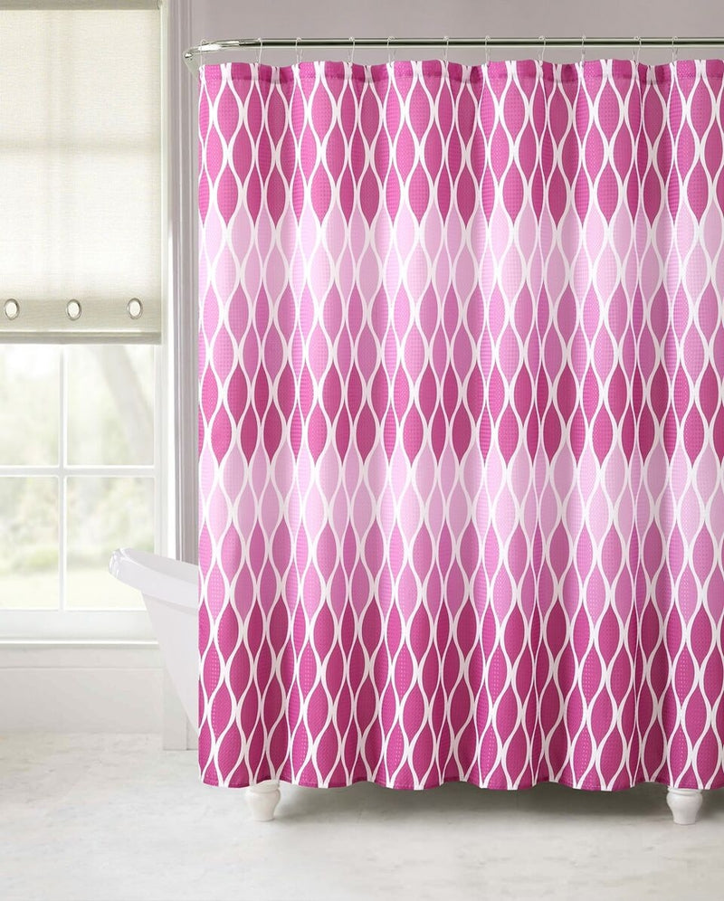 Luxury Embossed Shower Curtains - Assorted Styles - DailySale, Inc