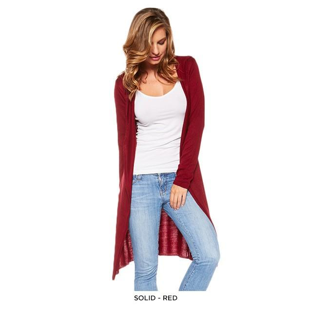 Stylish Long Hooded Cardigan - Assorted Colors Women's Apparel S Burgundy - DailySale