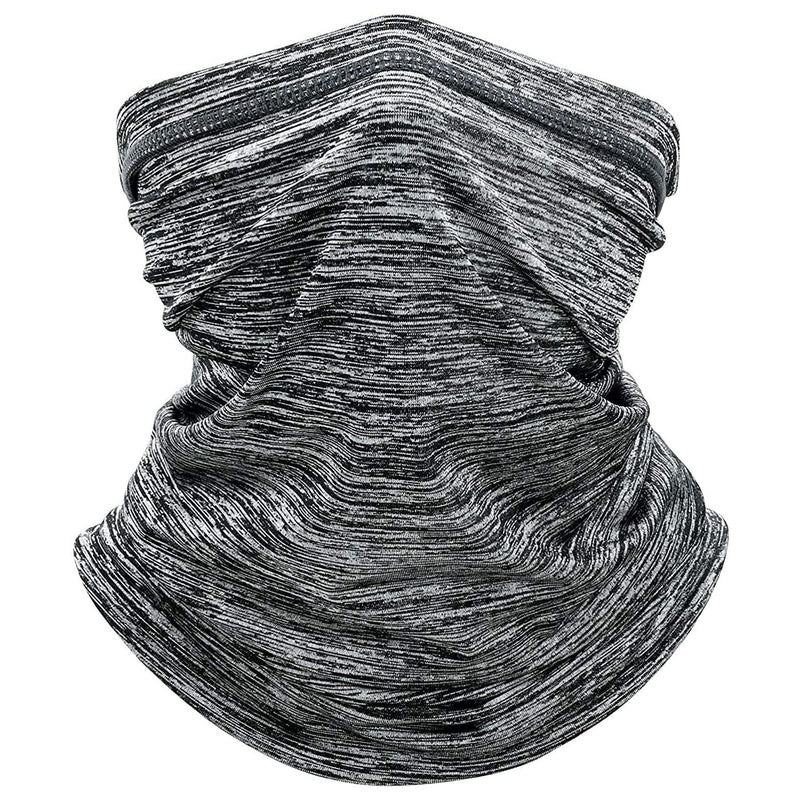 Sun Protection Cool Lightweight Neck Gaiter Face Scarf Sports & Outdoors Light Gray - DailySale