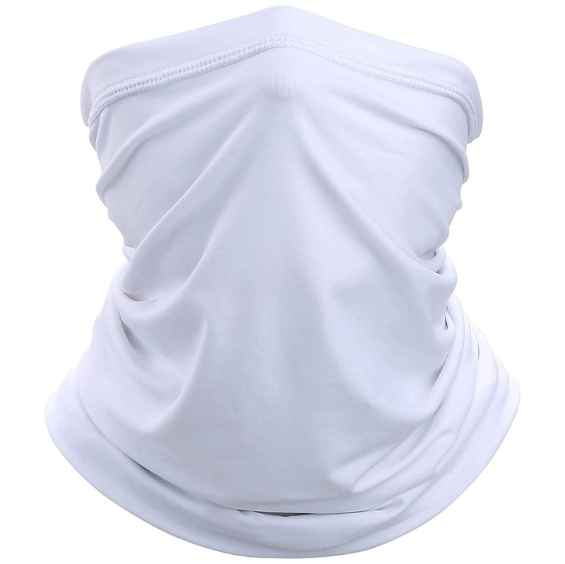 Sun Protection Cool Lightweight Neck Gaiter Face Scarf Sports & Outdoors White - DailySale
