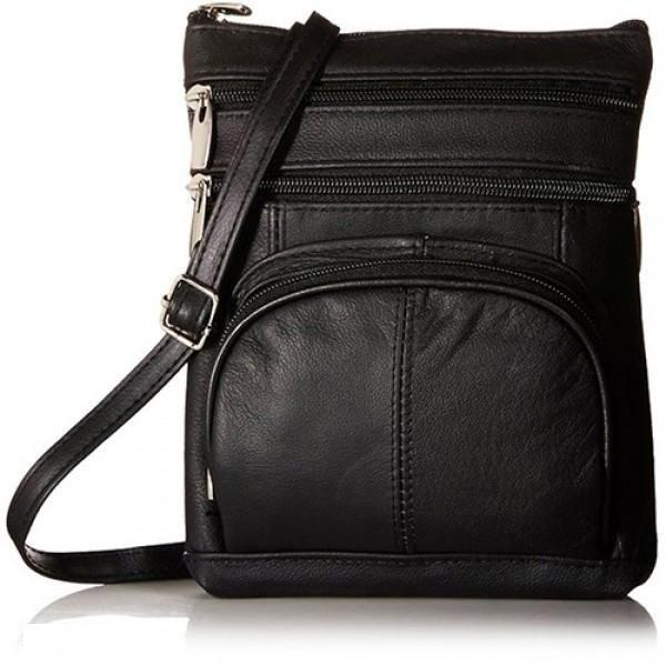 Super Soft Leather-Crossbody Bag Handbags & Wallets Black - DailySale