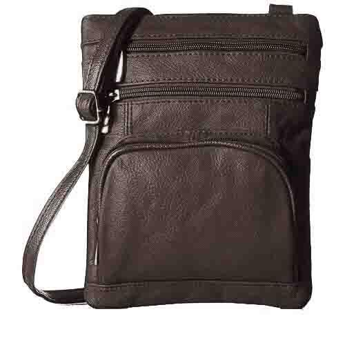 Super Soft Leather-Crossbody Bag Handbags & Wallets Coffee - DailySale
