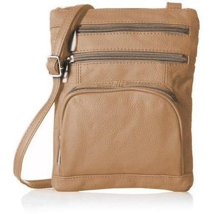 Super Soft Leather-Crossbody Bag Handbags & Wallets Khaki - DailySale