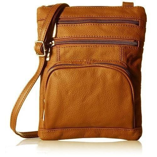 Super Soft Leather-Crossbody Bag Handbags & Wallets Light Brown - DailySale