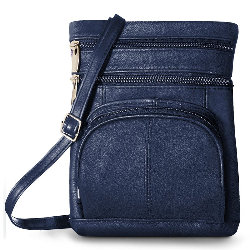 Super Soft Leather-Crossbody Bag Handbags & Wallets Navy - DailySale