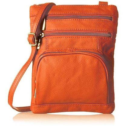 Super Soft Leather-Crossbody Bag Handbags & Wallets Orange - DailySale