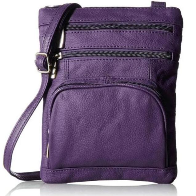 Super Soft Leather-Crossbody Bag Handbags & Wallets Purple - DailySale