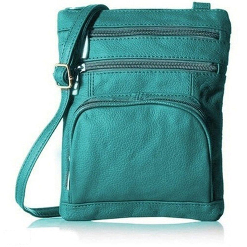 Super Soft Leather-Crossbody Bag Handbags & Wallets Teal - DailySale