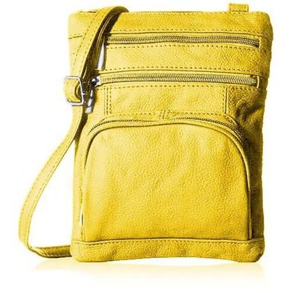 Super Soft Leather-Crossbody Bag Handbags & Wallets Yellow - DailySale
