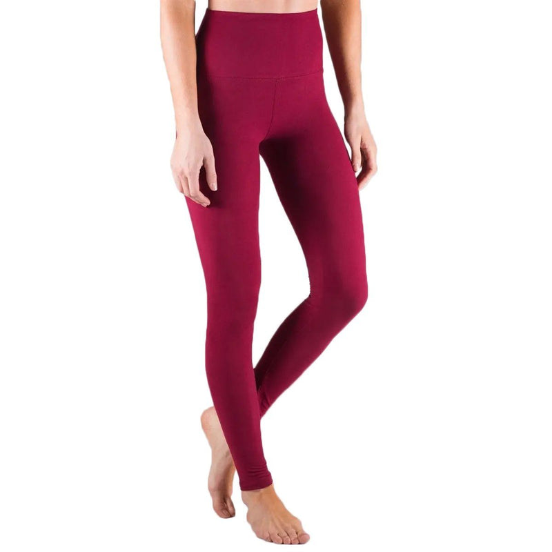 Super Soft Tummy Control Leggings Assorted Colors and Sizes Women's Apparel M Red - DailySale