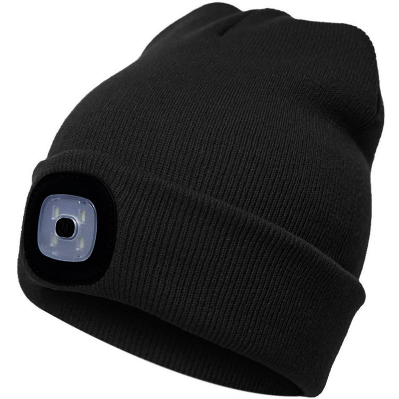 TANGCISON LED Lighted Beanie Hat Sports & Outdoors Black - DailySale