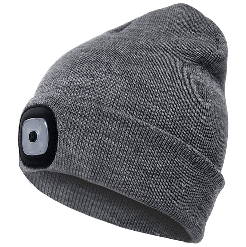 TANGCISON LED Lighted Beanie Hat Sports & Outdoors Gray - DailySale