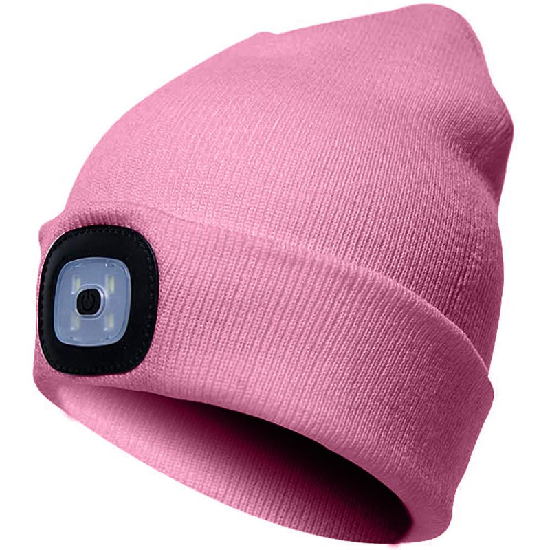 TANGCISON LED Lighted Beanie Hat Sports & Outdoors Pink - DailySale