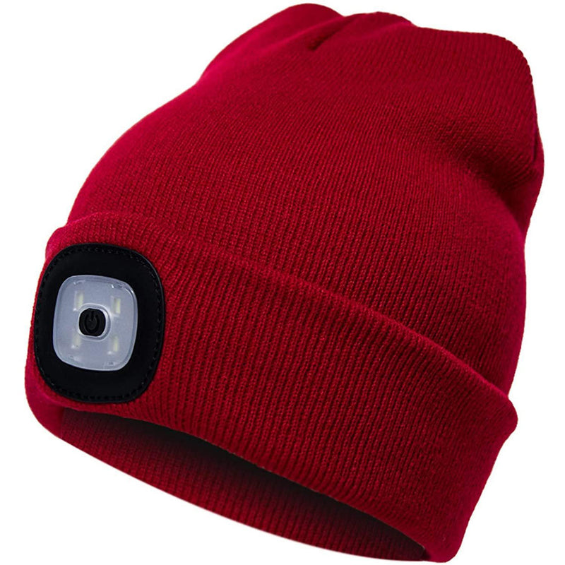 TANGCISON LED Lighted Beanie Hat Sports & Outdoors Red - DailySale