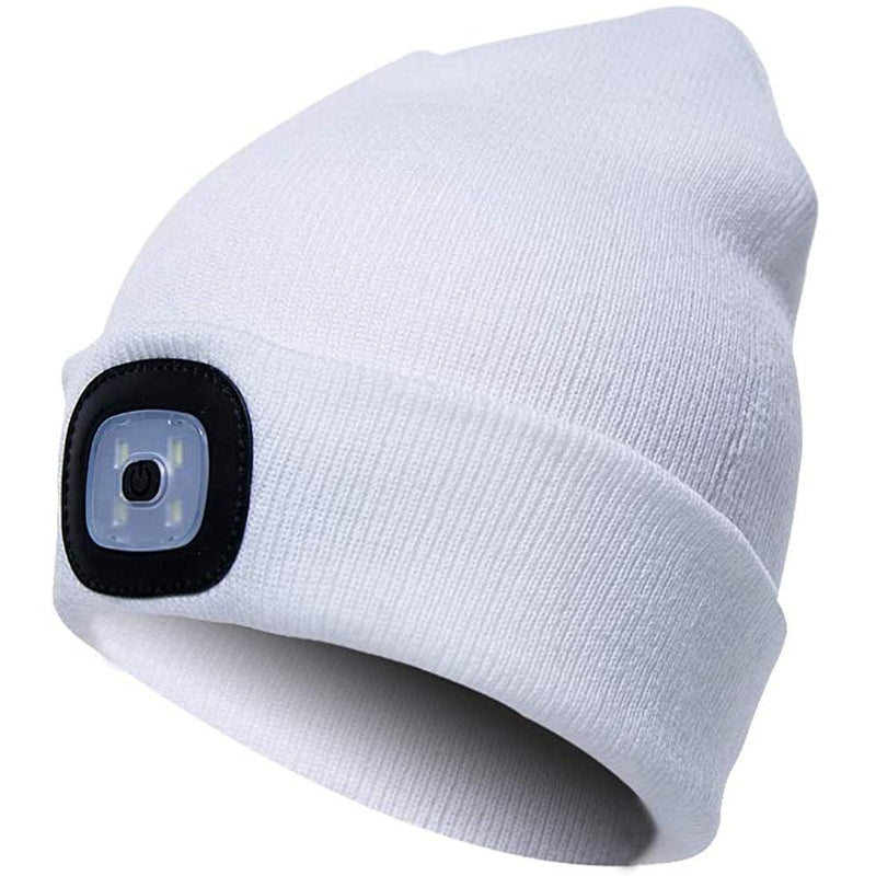 TANGCISON LED Lighted Beanie Hat Sports & Outdoors White - DailySale