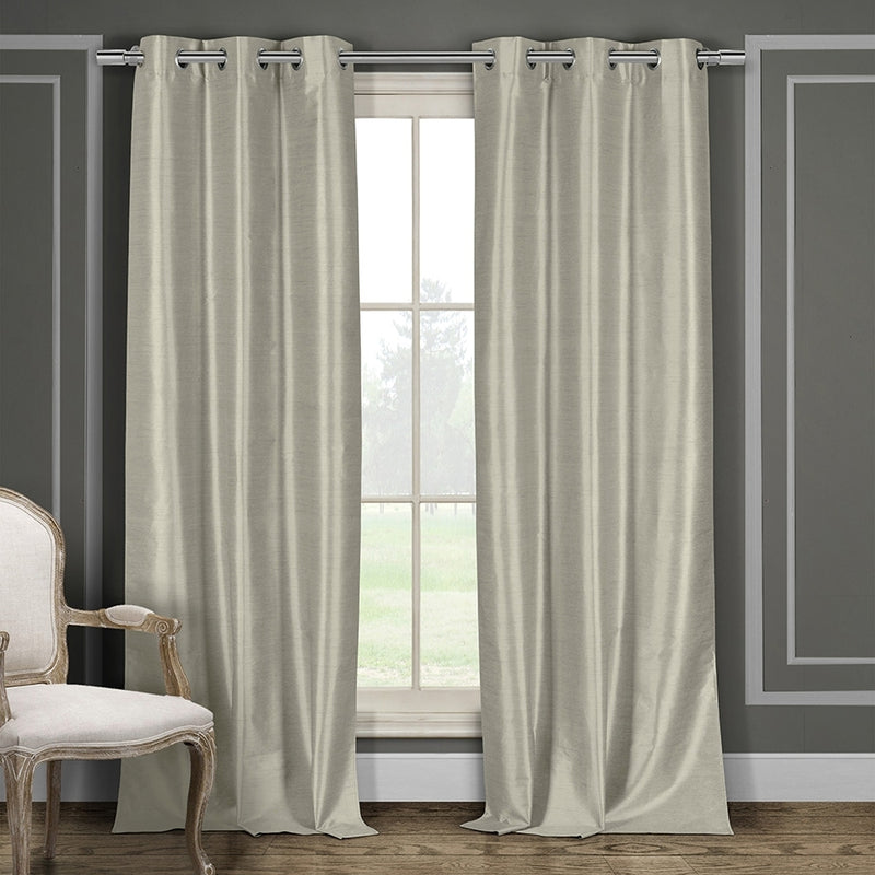 Heavy Faux-Silk Double-Layered Blackout Thermal Panel Pair - Assorted Colors - DailySale, Inc