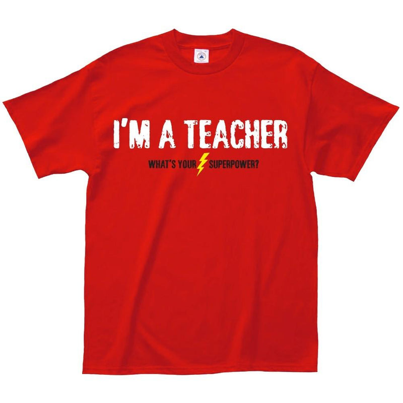 Teachers Rock or Teacher Superpower T-Shirt - Assorted Styles and Sizes Women's Apparel - DailySale