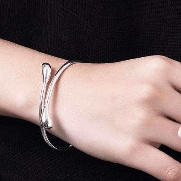Teardrop Bangle in Sterling Silver Jewelry - DailySale