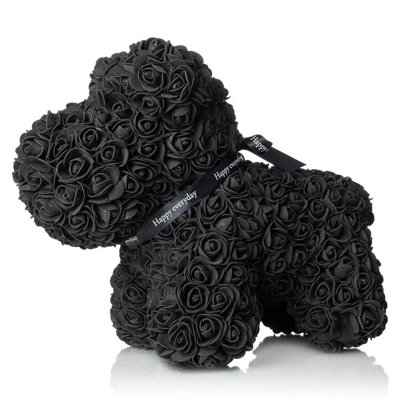 The Forever Handmade Rose Petal Puppy Furniture & Decor Black - DailySale