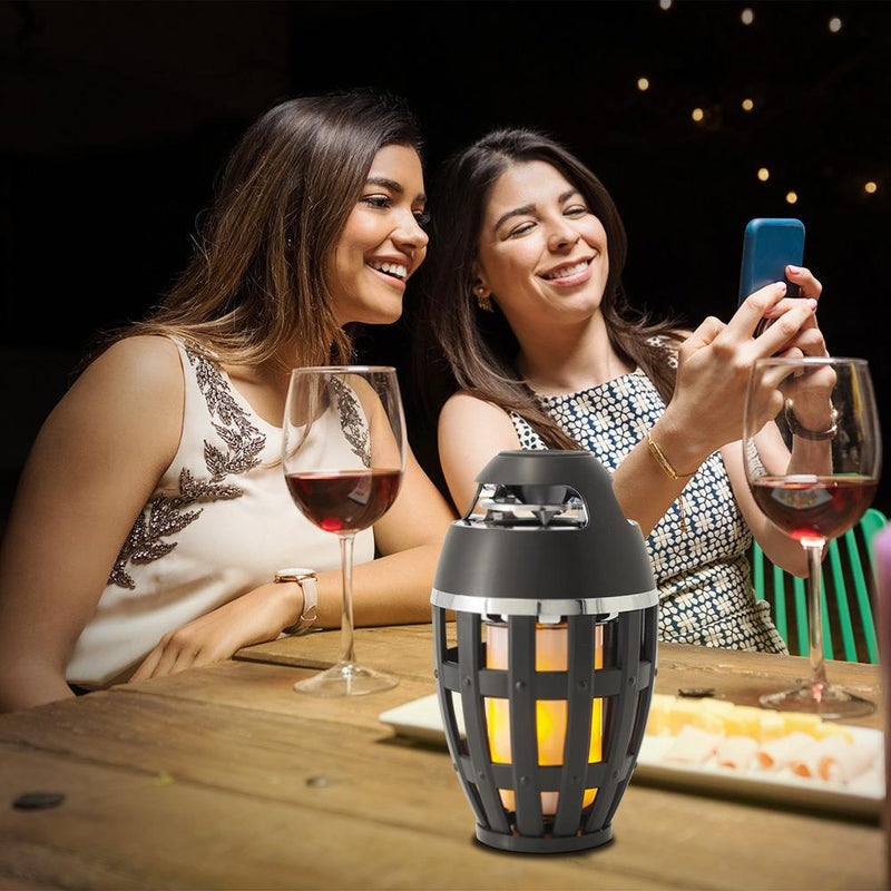 Tiki Torch Wireless Portable Stereo Speaker and Flame Table Lamp Headphones & Speakers - DailySale